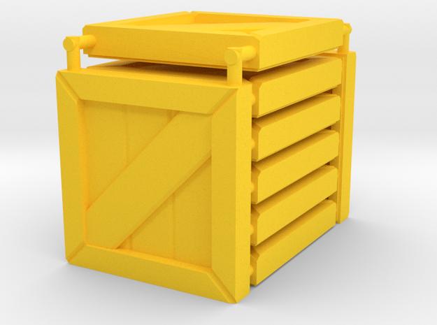 3 x 3 Wood Box Set in Yellow Processed Versatile Plastic
