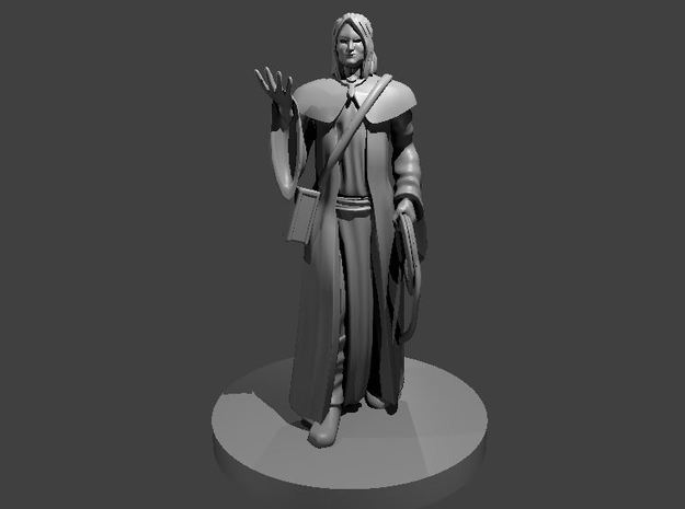 Human Magic Cleric with Whip in Smooth Fine Detail Plastic