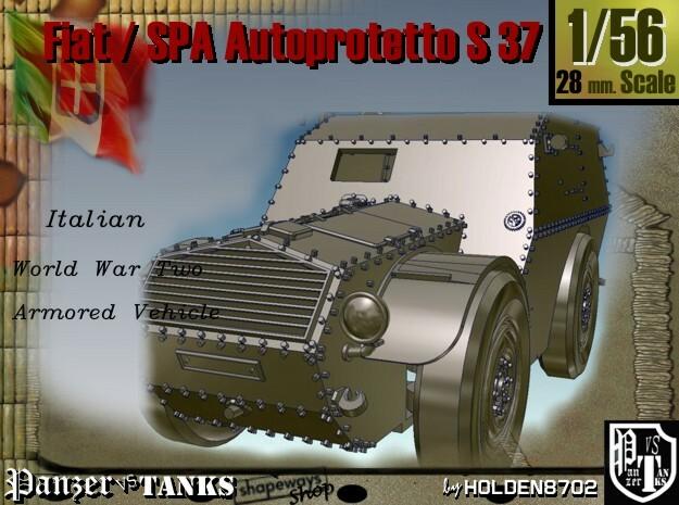 1-56 Fiat-SPA Autoprotetto S37 3d printed