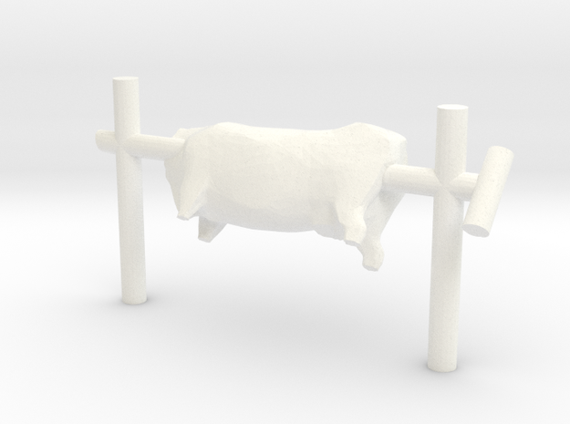 S Scale Beef On A Spit  in White Processed Versatile Plastic