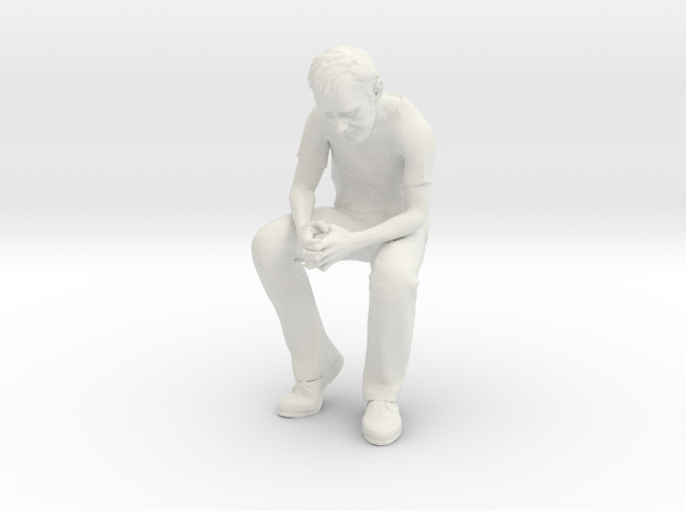 SE Alec sitting Figure WSF in White Natural Versatile Plastic