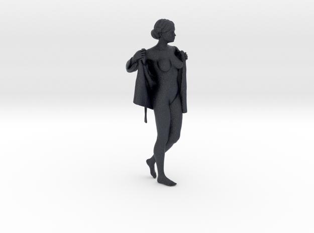 Bathrobe woman series 016 in Black PA12: 1:30