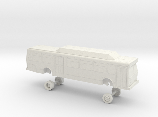 HO Scale Bus Orion V Foothill F1300s in White Natural Versatile Plastic