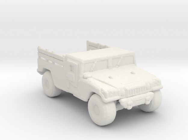 M1038A1 up armored 285 scale in White Natural Versatile Plastic