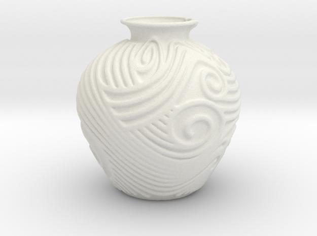 Vase 1029MR in White Natural Versatile Plastic