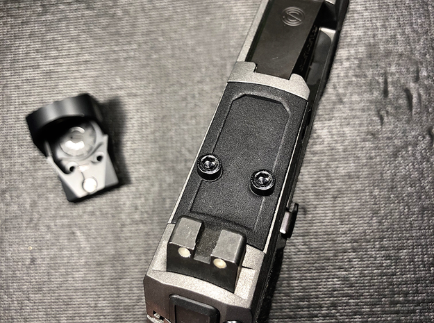 Flattop Optic Plate for SIG Romeo P320 RX  in Black PA12