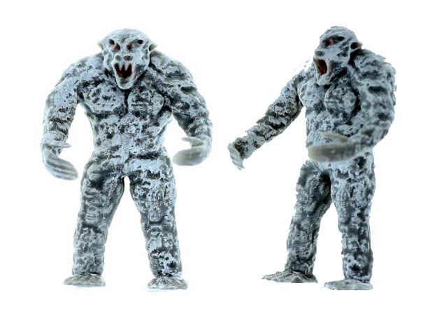 YETI Beast N Scale Detailed Creature in Smooth Fine Detail Plastic