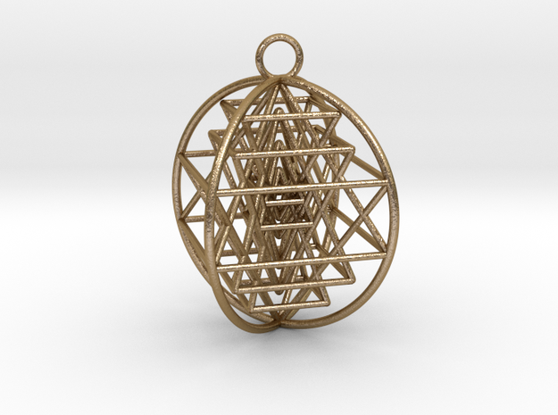 3D Sri Yantra 4 Sided Optimal 2""