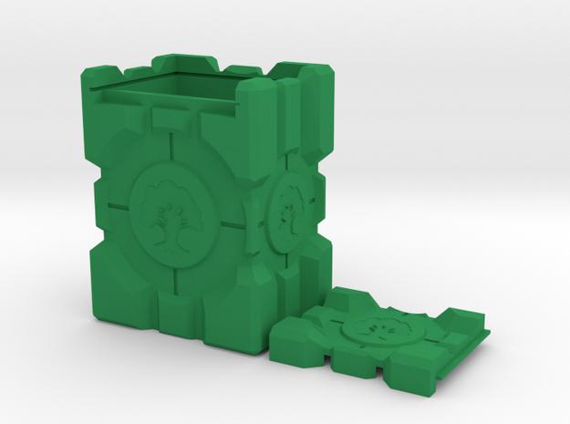 Companion Crate Portal Themed M:TG Deckbox -- Gree in Green Processed Versatile Plastic