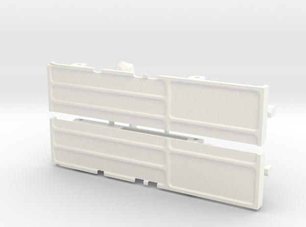 rtf203-01 TF2 Mojave Front Body Mount, Slider in White Processed Versatile Plastic