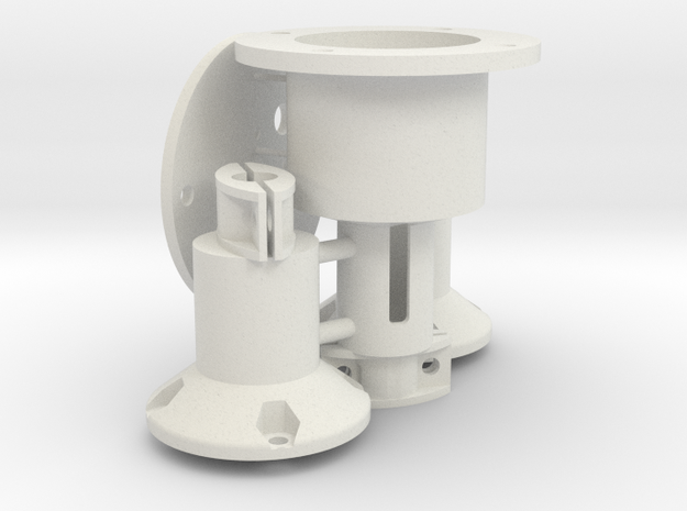 Brushless Engine Mounts for Germann Schnellboots in White Natural Versatile Plastic