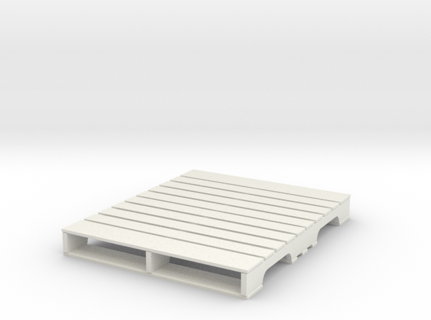 1:18 pallet US in White Natural Versatile Plastic