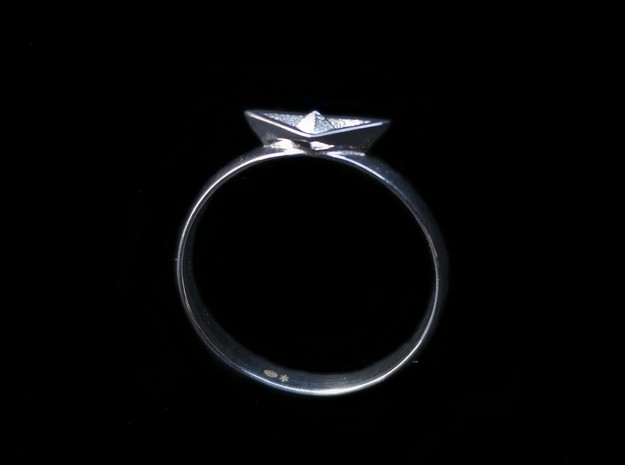 Paper Boat Ring in Polished Silver: 5.5 / 50.25