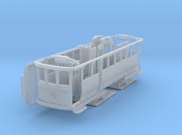 SEC Single Truck Tram HO 1:87 in Smooth Fine Detail Plastic