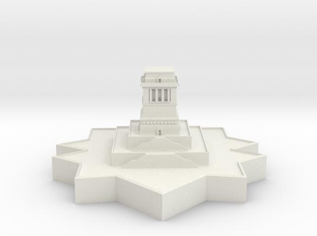 Statue of Liberty Base in White Natural Versatile Plastic