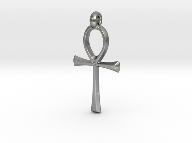 Ankh with hook in Natural Silver