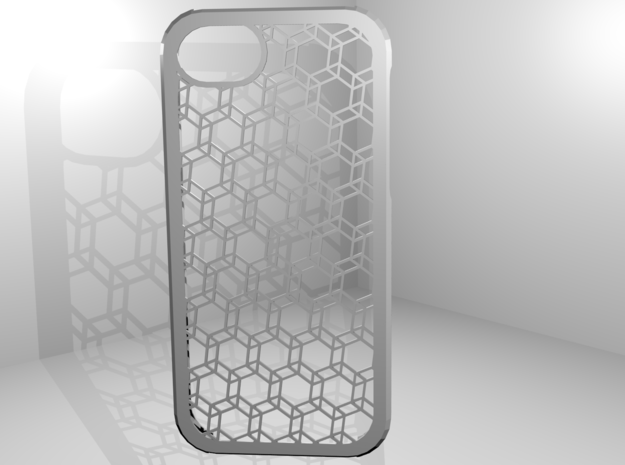 Iphone 5 Hexagonal Case in White Natural Versatile Plastic