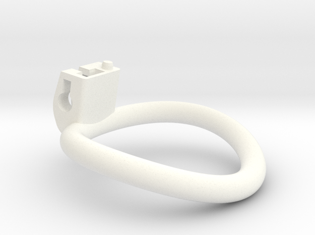 The Cherry Keeper Circular Ring - Multiple Sizes in White Processed Versatile Plastic: Extra Large