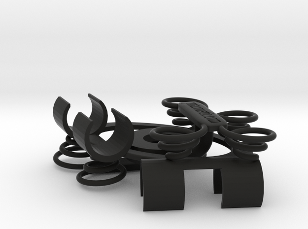 ORTF Stereo Shock-Mount 19mm in Black Natural Versatile Plastic