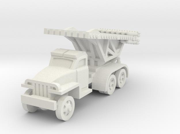 Katyusha Rocket artillery, enhanced in White Natural Versatile Plastic