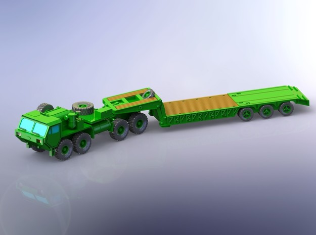 HEMTT M983 with M870A1 Semitrailer 1/160 in Smooth Fine Detail Plastic