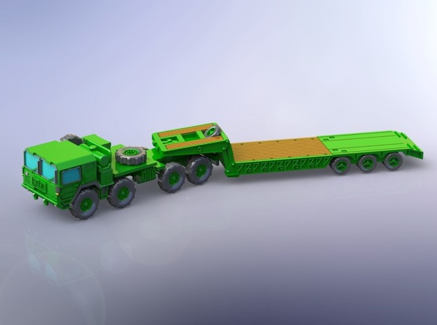 MAN M1014 with M870A1 Semitrailer 1/160 in Smooth Fine Detail Plastic