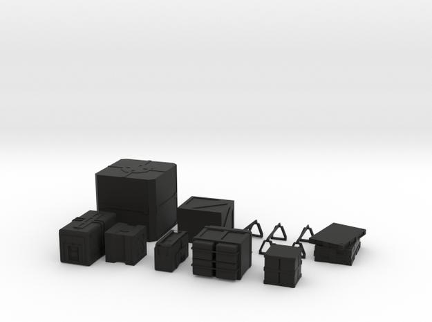 Scatter Crates in Black Natural Versatile Plastic