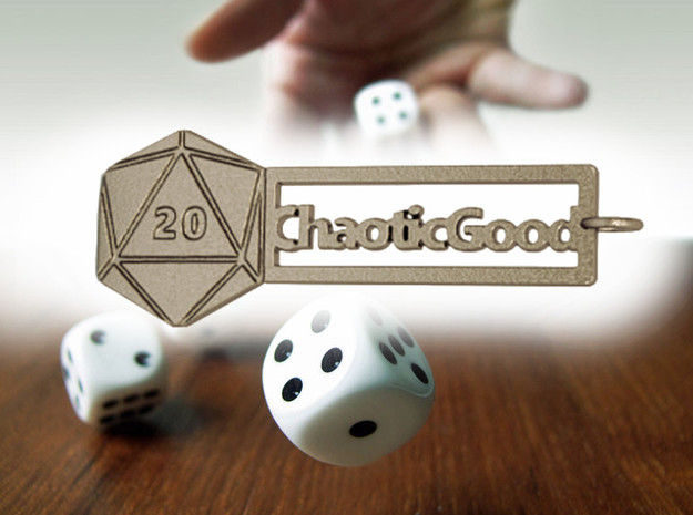 Chaotic Good RPG Keychain