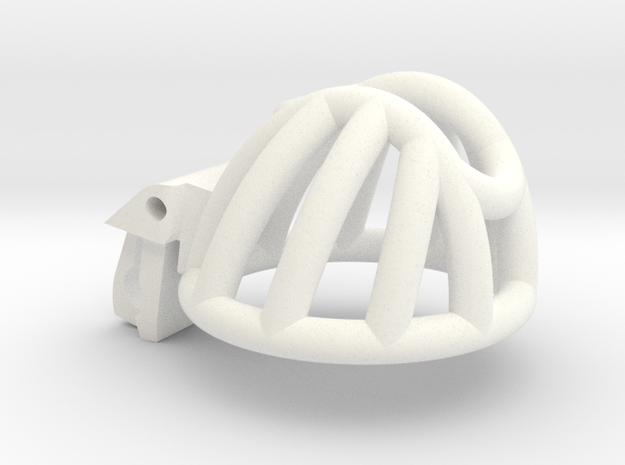The Cherry Keeper Cage - Short in White Processed Versatile Plastic