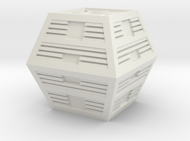 Space 1999 Alpha Box 1/24 Scale in White Natural Versatile Plastic