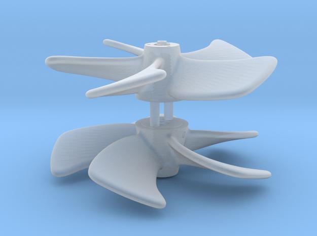 Skewed Propeller in Smooth Fine Detail Plastic