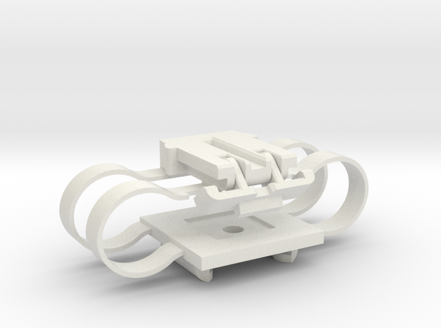 Stabilizer With Integrated Springs in White Natural Versatile Plastic