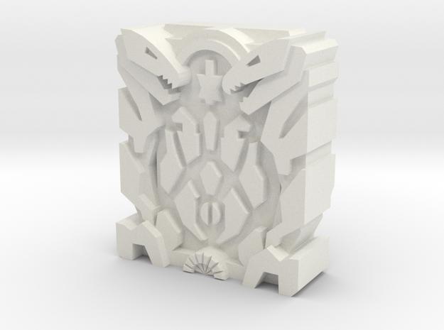 """Amalgamous Prime """"EyeSpider"""" Matrix Plate in White Natural Versatile Plastic"""