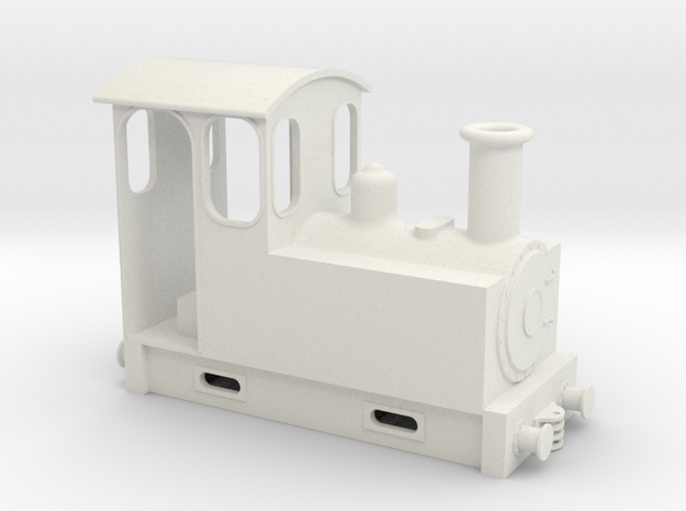 On18 tank loco link and pin in White Natural Versatile Plastic