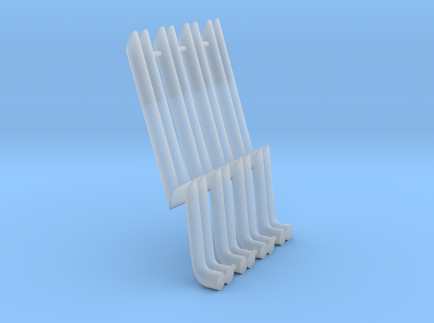 1/64 Scale Bosozuku exhaust Pipes for Mad Manga in Smoothest Fine Detail Plastic