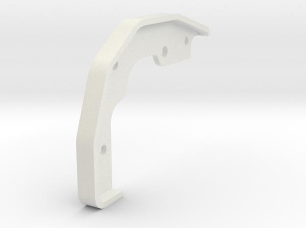 Tamiya Blazing Blazer Front Right Bumper Mount in White Natural Versatile Plastic