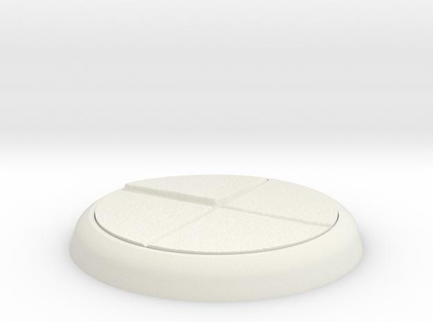 25mm Circular Base in White Natural Versatile Plastic