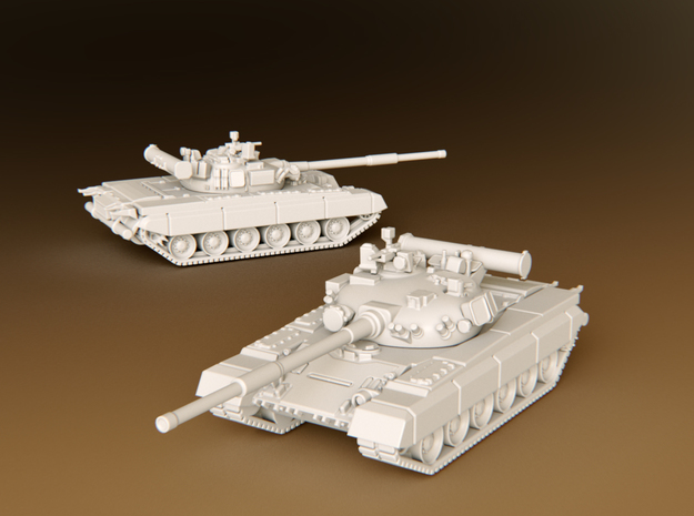 MBT T80b Scale: 1:160 in Smooth Fine Detail Plastic