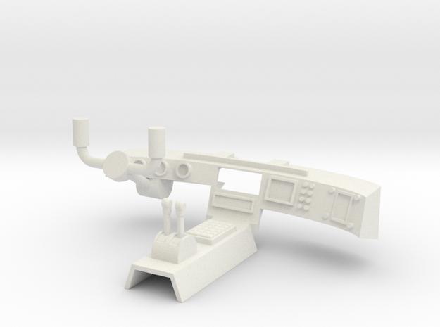 Captain Action Silver Streak -Dashboard in White Natural Versatile Plastic