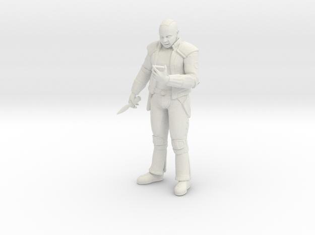 28mm Futuristic Street Gang Member in White Natural Versatile Plastic