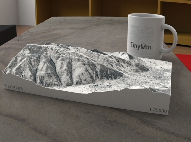 Aspen in Winter, Colorado, USA, 1:25000 in Full Color Sandstone