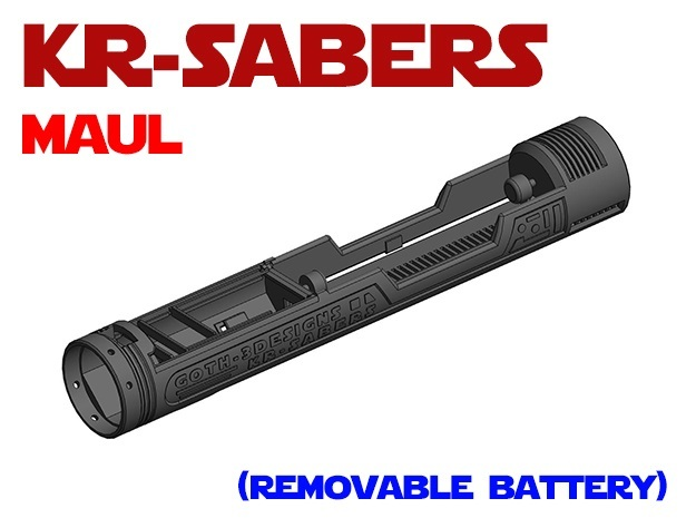 KR-OR Darth Maul - Lightsaber Chassis in White Natural Versatile Plastic