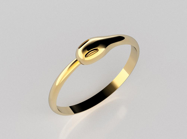 Ouroboros Ring in 14K Yellow Gold: 7 / 54