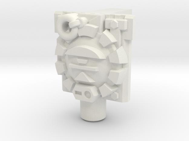 Combatron/Apocalypse Fist Plate/Cyber Chip in White Natural Versatile Plastic