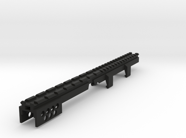 MP5 Full Length Picatinny Rail in Black Natural Versatile Plastic