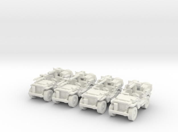 1/100 SAS Jeep ww2   set of 4