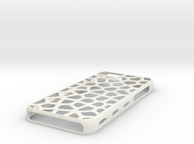 "case iphone 5c ""leopard"" in White Natural Versatile Plastic"