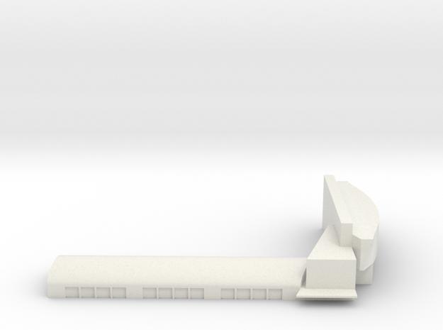 Gardermoen Terminal in White Natural Versatile Plastic