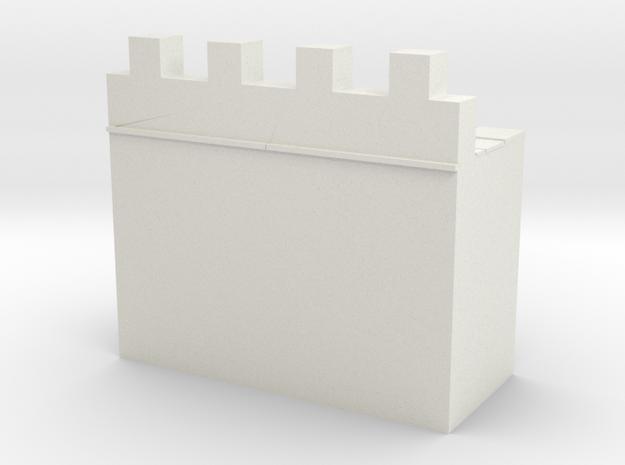 roman hadrian's wall  1/100 in White Natural Versatile Plastic