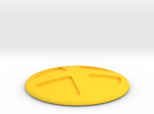 Xmen Cosplay Belt Buckle in Yellow Processed Versatile Plastic